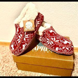 NWT-Lamo Fair Isle Wool-Lined Knit Slippers